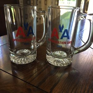 Other - American Airlines drinking glasses- set of two